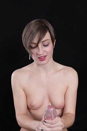 Marie Lathers Cock with Thick Cum