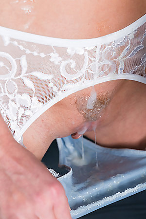 Alexis Crystal Gets Her Panties Filled with Cum