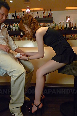Hot Asian darling Shiori Amano sucks a dick